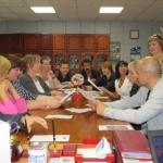 Совещания и встречи с членами профсоюза