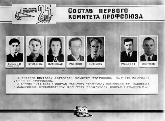 История профсоюзов: Состав первого комитета профсоюза